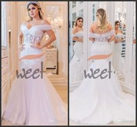 2020 Ilusão Africana Desligado Vestidos de Noiva Mermaid Brown Vestido Plus Size Sexy Noiva Trumplet Backless Robes de Mariée Arábia Saudita