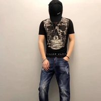 Skull Print Tee Tops Men Clothing Fashion Summer Casual Tee ...
