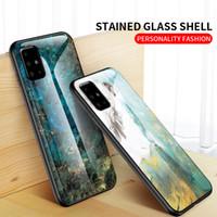 MarbleTempered Стекло телефон чехол для Samsung Galaxy S20Ultra S20 S10 5G Витраж Shell Для Note10pro A71 A31 5G Soft TPU Край