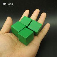 الأخضر 100 قطع 2.5 سنتيمتر شجرة خشبية مكعب لعبة أداة الدماغ دعابة الشعور المشترك التعليم لعب للأطفال (نموذج رقم B275)