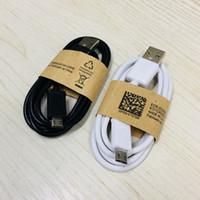 80CM Android Line Data Micro Câbles Chargeur USB de haute qualité Noir Blanc Ligne V8-charge pour téléphone Android 2 Couleurs