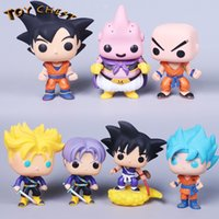 TOY CHEST Marca Funko POP Cute Son Goku Bu Dragon Ball Catoon Anime Modelo de juguete Figura de acción Muñeca coleccionable para niños