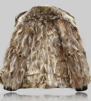 Mens Leather Jacket Winter Real Fur Coats Raccoon Fur Liner ...