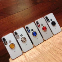 Acrylic tpu Clear Transparent Phone Cases with finger ring k...