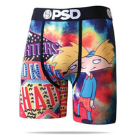 Hot vendas PSD pugilistas underwea dos homens breif padrão esportes hip hop rocha excise cueca skate street moda streched legging quick dry
