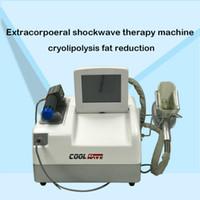 Reducción de la celulitis congelación de grasas + fisioterapia de ondas de choque máquina de adelgazamiento Vacío Cryolipolysis Slim Freeze Belt Kryolipolyse
