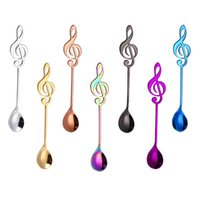 Musical Note Coffee Spoon Stainless Steel Stirring Spoon Sma...