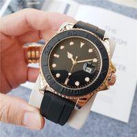Heiße Verkaufs-Männer Frauen-Mode-Uhr Design Edelstahl-Uhren Quarz-Uhrwerk Gummibügel Männer-Sport-Armbanduhr-Qualität-Uhr-Uhr