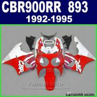 Kit carenatura nuovo di zecca Honda CBR900RR CBR 893 1992-1995 carene fiamme nere rosse set CBR 900 RR 09 10 11 OP00