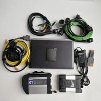 2in1 자동 진단 도구 사용 랩톱 E6420 i5 4G MB Star C4 SD 4 icom 다음 A + B + C를 1TB 하드 디스크로 BMW 용