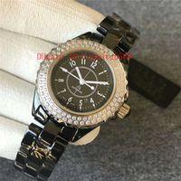 GT Fabrik V2 Diamant-Keramik-Dame Uhr Uhr der Frauen Schweizer 8215 automatische mechanische 28800 vph Datum Saphirglas Wasserdicht