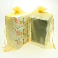 100 / Muito 30 * 40cm cor sólida Organza presente saco transparente Jóias Empate Sacos de corda Gift Collection Bolsa de casamento doce pequeno lanche Packaging
