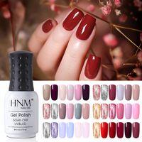 HNM soak off 6 pcs cor gel esmalte set uv diodo emissor de luz verniz de longa duração salão manicure 8ml conjunto de presente