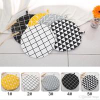 Tapis de table ronde en coton anti-dérapant boisson mat sous la main tapis de cuisine hot pot tapis tapis pour pot grande vaisselle Pad DH1222