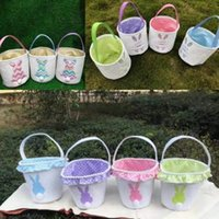 14styles Easter Rabbit Basket Egg Buckets Gift Bag Festive p...