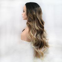 2021 Новые матовые длинные прямые волосы OC908 Персонализированные индивидуальные настройки Химическое волокно Парик Европа и Америка Переднее кружевное капюшон женский цвет