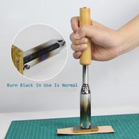 Personalizado Cobre 150w / 300w máquina marca torta plancha eléctrica marca de bambú sello de cuero molde de cobre de la hoja caliente presionando el sello de bronce de hierro