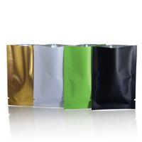Nero opaco / bianco / dorato / verde open top sacchetto di imballaggio in foglio di alluminio caffè maschera alimentare confezioni sottovuoto sacchetti in mylar sacchetti di stoccaggio termosaldati