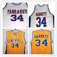 Ucuz # 34 Kevin Garnett Jersey, Farragut Kariyer Akademi Amiraller Basketbol Jersey, XXS-6XL Garnett Throwbacks Basketbol Formalar