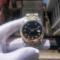 Super Version Фотография 126333 Bicolor Jubilee Bractelet DateJust Черный циферблат Sapphire стекло 41 мм мужские часы с оригинальной пластиковой коробкой