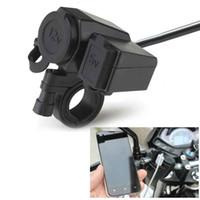 12V 오토바이 오토바이 핸들 담배 라이터 5V / 2.1A의 USB 소켓 방수에게와 전원 어댑터 충전기