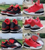 2019 New air jordan retro 3 Jumpman 3 LE Chicago All-Star Herren Basketball Schuhe 3s Herren Designer Turnschuhe Varsity Red CK5692-600 US7-13