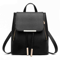 2019 Fashion Women' s Backpack Bag Leather School Bags H...