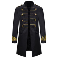 Men Military Singer Stars Trench Coat Frock Outwear Vintage ...