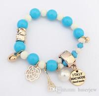 Armband Armreif Perlen Kristall Echt Perle Armband Natürliche Perlen Charm Armbänder