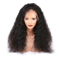 Volle spitze menschliche haarperücken menschliches haar 13 * 4 spitze front lockige perücken 180 dichte billig babyhaare vorgepuckte natürliche hairline