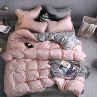 مصمم سرير المعزون مجموعات الفراش مجموعة الفراش 100٪ البوليستر الألياف المنزلية وجيزة النبات وسادة غطاء لحاف مجموعات بطانية مريحة
