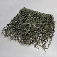 CE diplomato naturale grigio nero colore grigio profonda dei capelli dell'onda umani brasiliani ricci 3pcs 7A brasiliana ricci grigi trama dei capelli pacchetti estensione