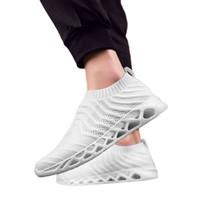 SAGACE кроссовки летние мужские сетки дышащий черный белый удобные легкие нескользящие повседневные Slip-On кроссовки X0106
