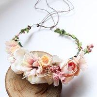 hecho a mano flores de simulación estéreo de la guirnalda de dulces hairbands princesa bridals tocado de boda junto al mar vacaciones guirnaldas Accesorios para el cabello S117