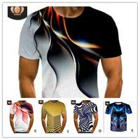 الأزياء 3D الطباعة الرجال التي شيرت الصيف كم قصير تي شيرت العرق الرياضة ركض عارضة بلايز جاف سريعة تريند تصميم بلايز M-6XL LY617