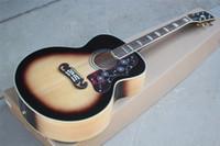 Fabrik Benutzerdefinierte 43 Zoll Akustikgitarre mit Knochen Mutter / Sattel, Korpus Binding, Palisander Griffbrett, kann besonders angefertigt werden