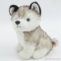 لينة hamtoys kawaii 18 سنتيمتر محاكاة هش الكلب أفخم لعبة هدية للأطفال الطفل لعبة هدية عيد محشوة أفخم لعبة الأطفال الصبي فتاة