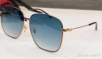 جديد مصمم الأزياء النظارات الشمسية 0394 إطار معدني مربع بسيط شعبي أسلوب uv 400 نظارات حماية في الهواء الطلق للرجال والنساء