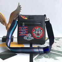 남성 메신저 가방 PU 가죽 숄더 크로스 바디 백 디자이너 남성 뱀 호랑이 핸드백 남성 작은 가방 서류 가방