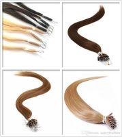 Longueur 14inch-26inch Anneaux Nano remy indiens 100% Extensions de cheveux humains de la / de 200s / lot Nano Tip Virgin Hair, Livraison gratuite