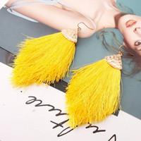 Женская мода чешские серьги 2020 сплав хлопок линия стрелка кисточкой весна цвет женские серьги мода Boho девушки ювелирные изделия подарок ER112543
