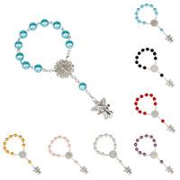 Mode Engel Charm Rosenkranz Armbänder für Kinder Kinder Religion 8MM Perlen Ketten-Armband-Jungen-Mädchen-Schmuck-Geschenk