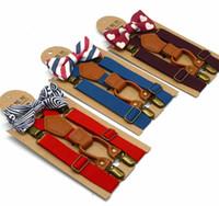I capretti all'ingrosso cinture regolabile Bretelle reticolo bambino plaid cinture Bretelle Kids Designer cinghia della clip con farfallino 9 colori bambini cintura BY1396