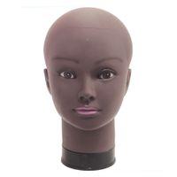 Afro-weiblicher Mannequin-Kopf für Perücke, die Manikin-Modell machen Model machen Styling-Übungs-Friseur-Hut-Stand 54cm