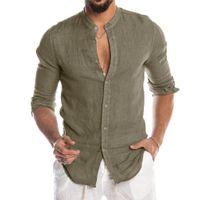 Casual Blusa de algodão Linho Camisa de Nova homens soltos tops de manga curta camiseta Primavera Verão Outono ocasional considerável camisa dos homens