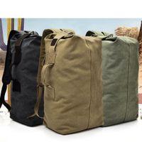 Туристический рюкзак, спортивная сумка, унисекс, многофункциональный холст, открытый спортивный рюкзак, большой емкости. Туризм.