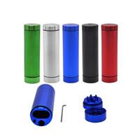 2 Livello 30 millimetri fumo Piroga Grinders con la scatola in lega di alluminio rotonda Fumo frantoio brillante colore Grinder portatile più venduti 18yha E1