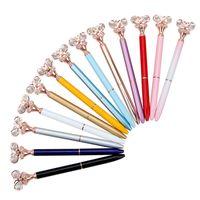 Diamond Butterfly Ballpoint Pen Bullt Tipo 1.0 Moda Pens Office Cancelleria Creativo Pubblicità creativa 12 colori