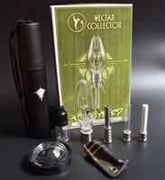 Alta calidad néctar del colector con el logotipo del clavo de titanio Consejo de cuarzo de uñas invertida Bong Cristal tubería de agua