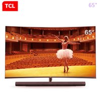TCL 65 polegadas curvo TV inteligência artificial 4K ultra hd LED TV LCD 136% de alta cor gamesharman kardon áudio TV grátis shipping6